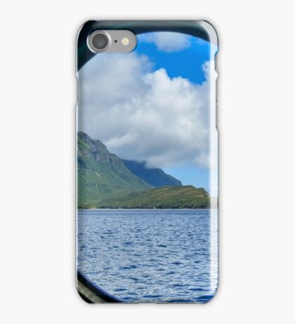 Porthole scenery iPhone Case/Skin