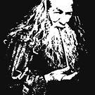 Old man smoking pipe by AmazingDoom