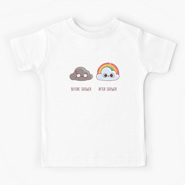 Before After Shower Camiseta para niños