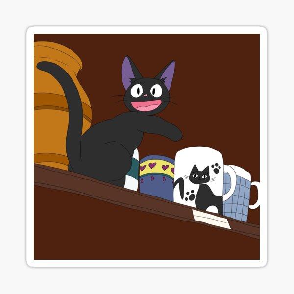 Anime Cat on a Shelf Sticker