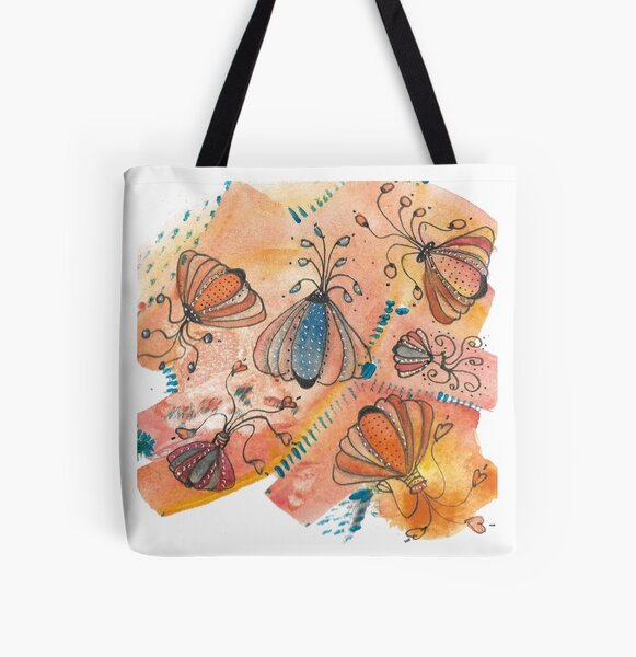 Abstract bug like patterns All Over Print Tote Bag