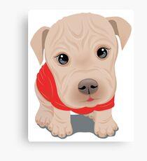 Naughty dog Canvas Print