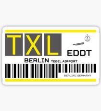 Destination Berlin Tegel Airport Sticker