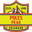 PIKES PEAK COLORADO Skiing Ski Mountain Mountains Snowboard National Forest by MyHandmadeSigns