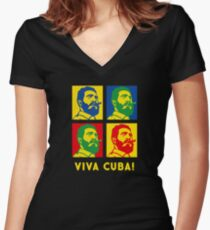 Viva Cuba! Women's Fitted V-Neck T-Shirt