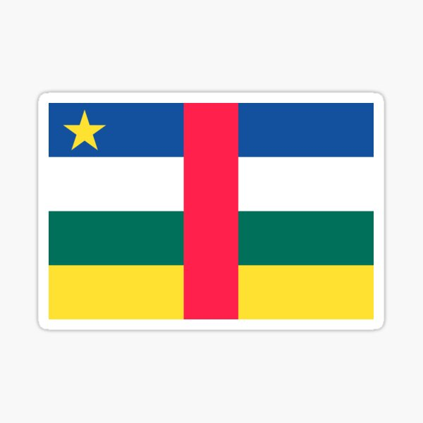 Central African Republic Flag Sticker