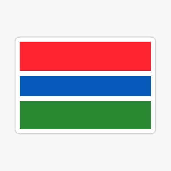 Gambia Flag Sticker