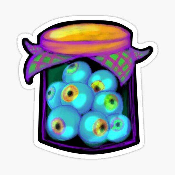 Jar of Eyeballs Sticker