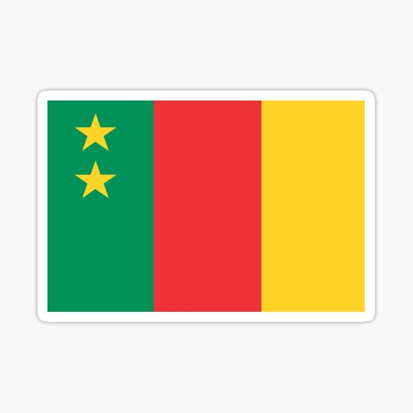 Old Cameroon Flag Sticker