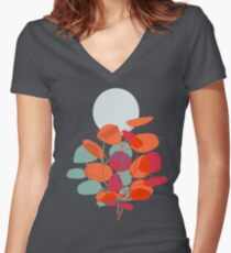 Lunaria Women's Fitted V-Neck T-Shirt