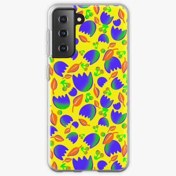 Floral colorful seamess pattern Samsung Galaxy Soft Case