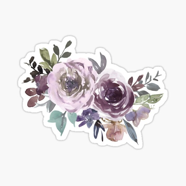 Ornamental pattern with purple Vol.1 Sticker