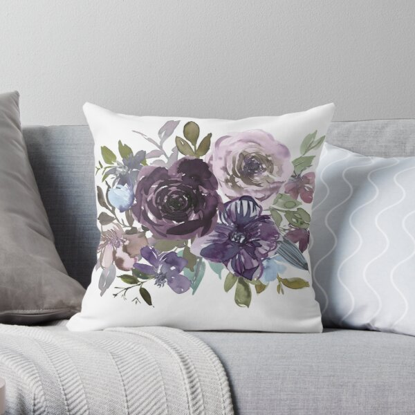 Ornamental pattern with purple Vol.2 Throw Pillow