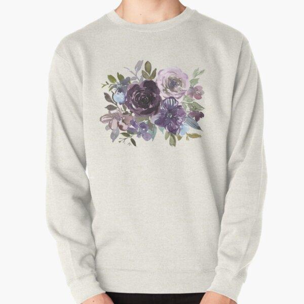 Ornamental pattern with purple Vol.2 Pullover Sweatshirt