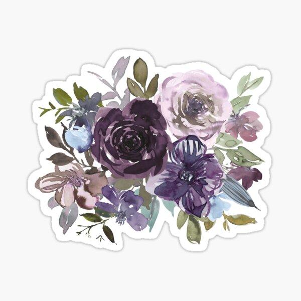 Ornamental pattern with purple Vol.2 Sticker