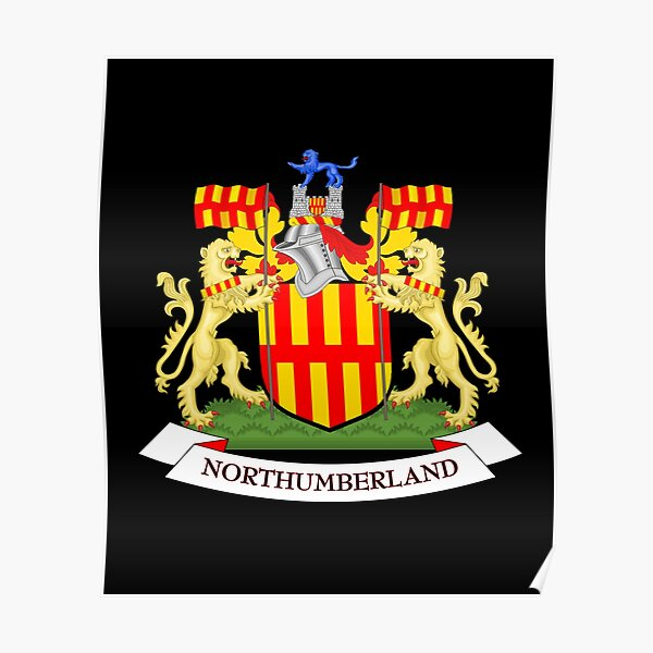 Northumberland coat of arms Poster