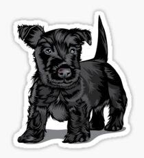 Cute Schnoodle dog Sticker