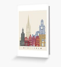 Stockholm skyline poster Greeting Card