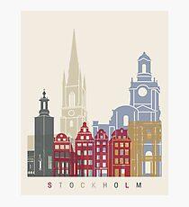 Stockholm Skyline Poster Fotodruck