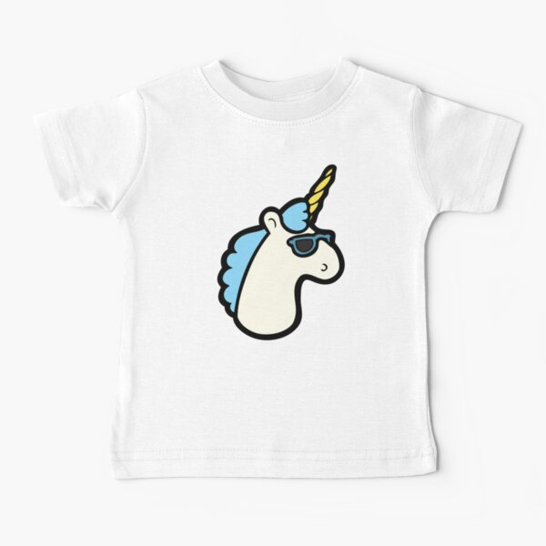 Unicorns Are Cool Pattern - Blue Baby T-Shirt