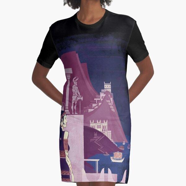 Minoan Civilization - Minotaur - Cretan Bronze Age History Graphic T-Shirt Dress