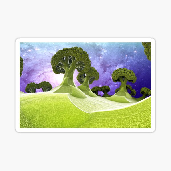 Broccoli Planet Sticker