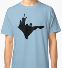Flying windmill silhouette Classic T-Shirt