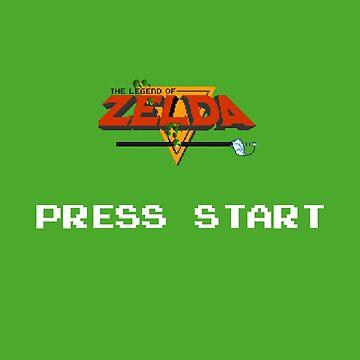 The legend of Zelda - Press Start by Niculaiu