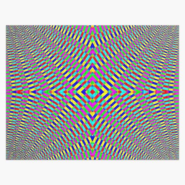 Optical illusion Concentric Circles Geometric Art - концентрические круги Jigsaw Puzzle