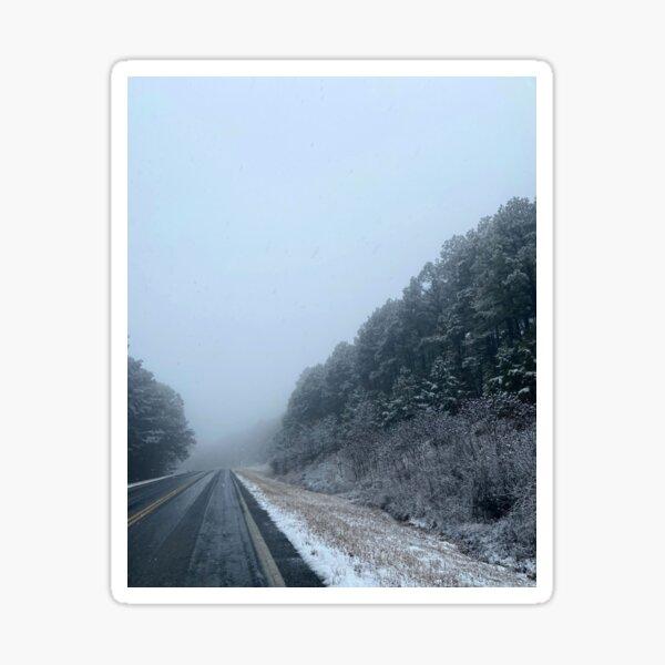 Snow Road Sticker