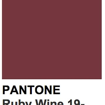 Pantone- Ruby Wine 19-1629 TCX by laurelshada