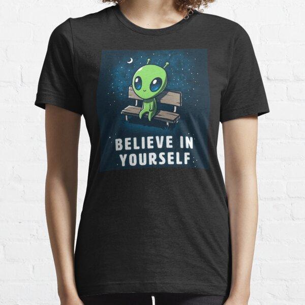 Believe In Yourself - Cute Friendly Alien Essential T-Shirt