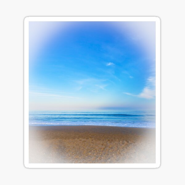 Dreamy Beach Sunset Sticker