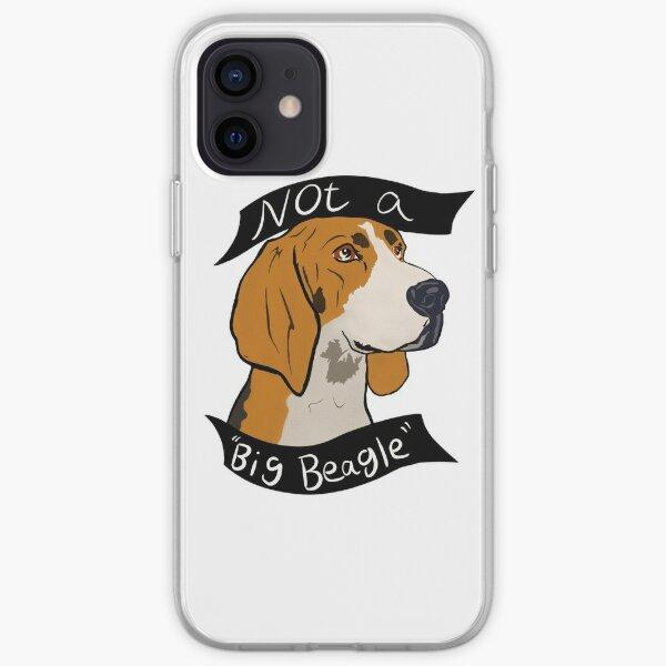 """Not A Big Beagle"" Treeing Walker Coonhound Design iPhone Soft Case"