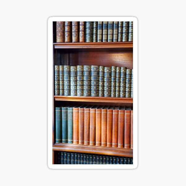 Leather Bound Library Books Sticker