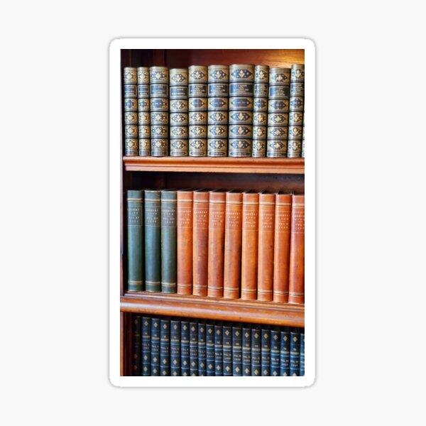Vibrant Leather Bound Books Sticker