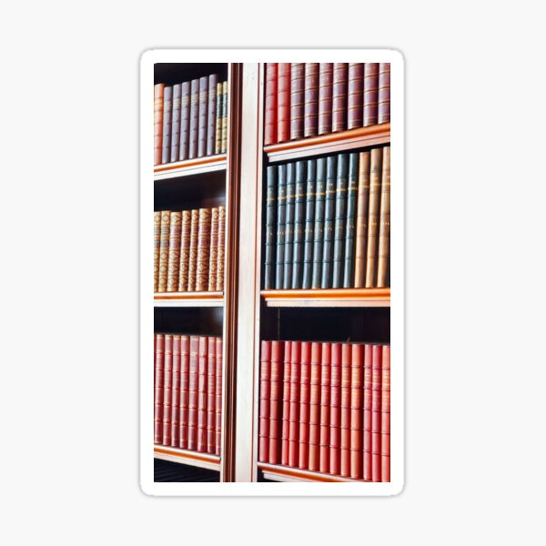 A Collection of Leather Bound Books Sticker