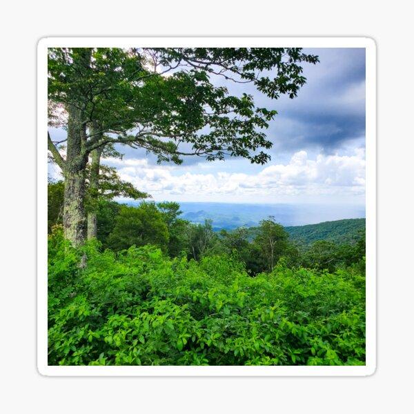 Lush Green Mountains Sticker