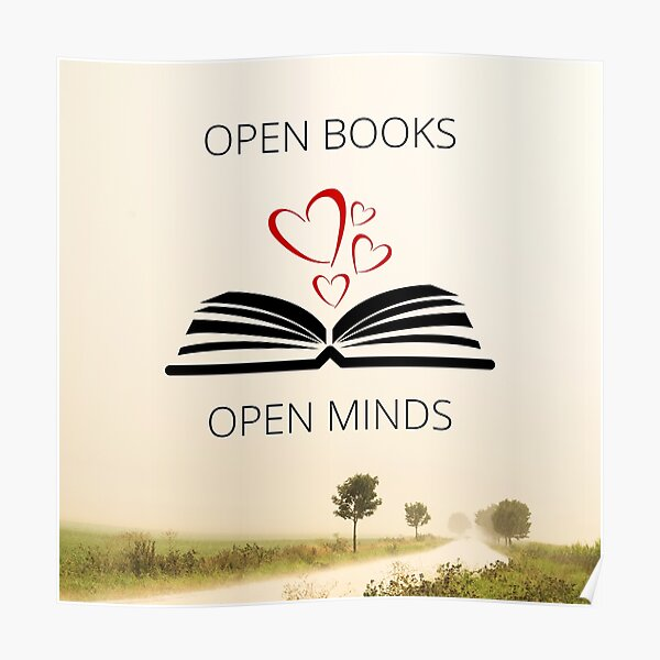 Open Books Open Minds Poster
