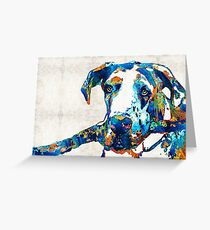 Great Dane Art - Stick With Me - By Sharon Cummings Greeting Card