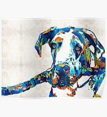 Great Dane Art - Stick With Me - By Sharon Cummings Poster