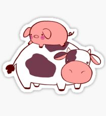 Cow and Pig Sticker