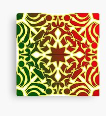 Red Yellow Green Abstract Shapes Design Canvas Print