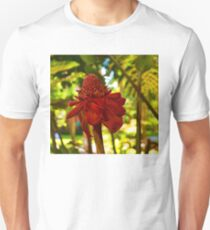 Porcelain Rose - Red Torch Ginger Lily in Hawaii Unisex T-Shirt