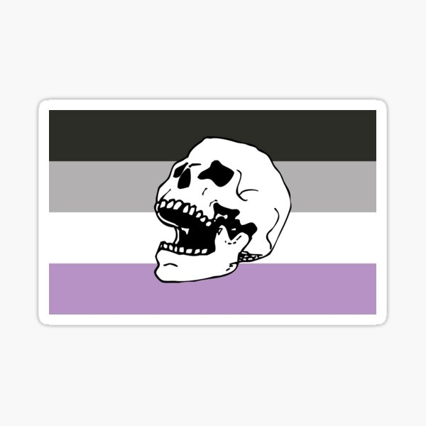ace asexual pride flag skull  Sticker