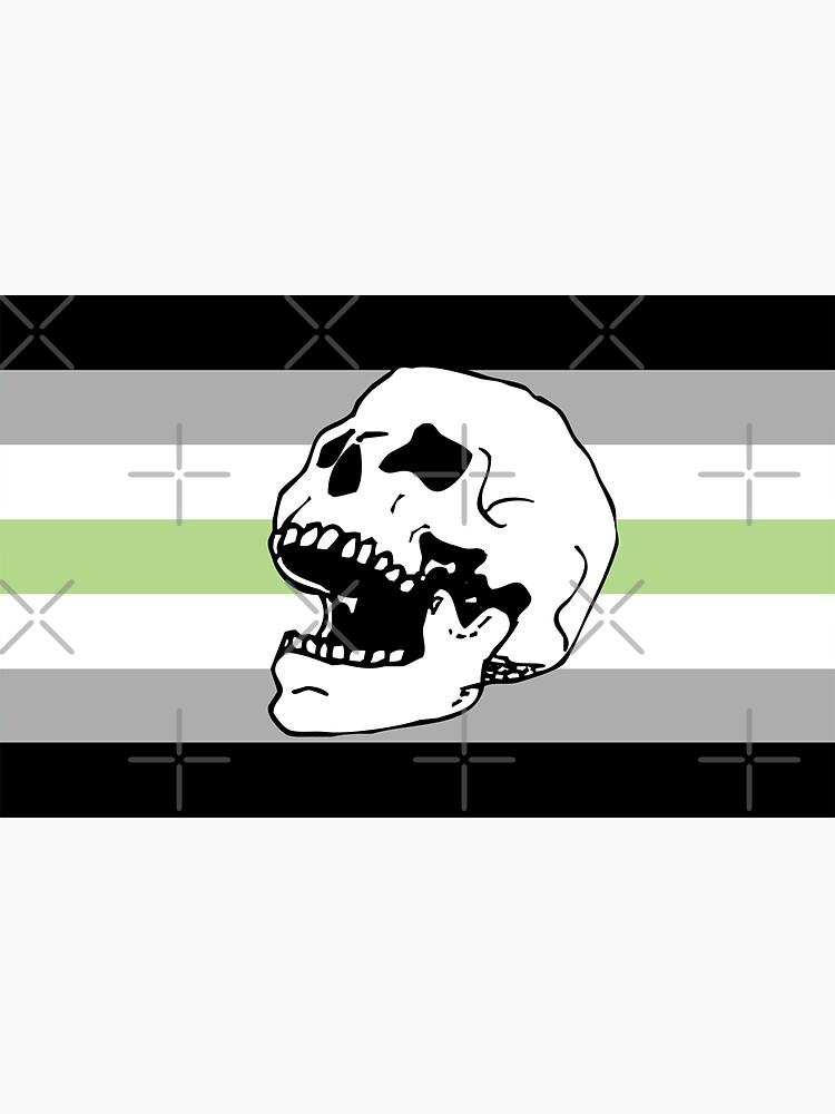 agender pride flag skull  by craftordiy