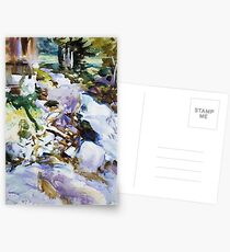Rushing Brook, John Singer Sargent Postkarten