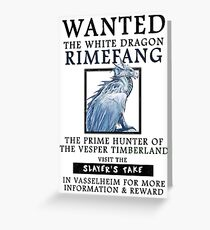 WANTED: The White Dragon, Rimefang - Critical Role Fan Design Greeting Card
