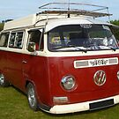 Red Camper Van! by Vicki Spindler (VHS Photography)