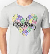 keith haring, keith, haring, big, love, graffiti, man, girl, family, wall, symbol. T-Shirt